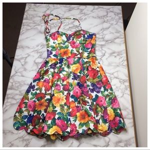 Paint it Red floral fit and flare dress